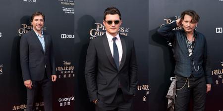 Javier Bardem, Orlando Bloom y Johnny Depp, tres estilos de los piratas del Caribe