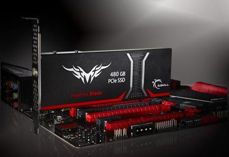 G.Skill anuncia Phoenix Blade, almacenamiento extremo en SSD tipo PCIe de 480GB
