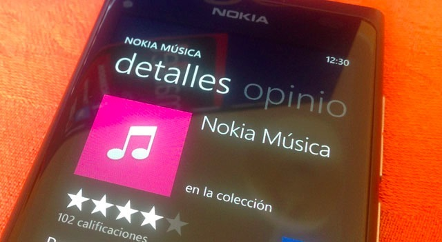 Nokia Musica en Windows Phone