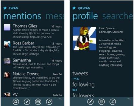 La aplicación oficial de Twitter se actualiza para Windows Phone Mango