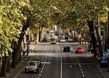Carretera con vehículos