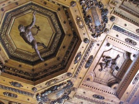 Techo del Teatro Anatómico Bolonia