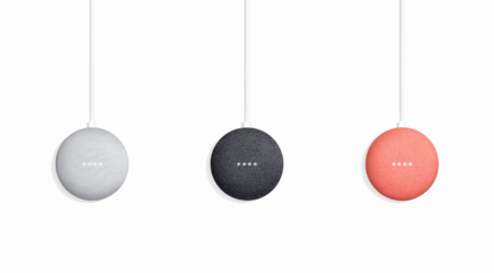 Google Home Mini Chalk Charcoal Coral