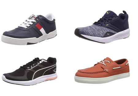 Chollos en tallas sueltas de zapatillas y mocasines Puma, Timberland o Tommy en Amazon