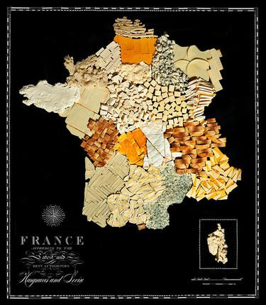 Mapas hechos con comida, por Henry Hargreaves y Caitlin Levin
