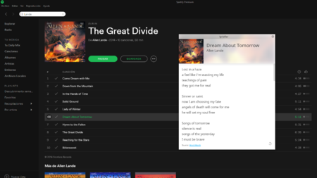 ¿Echas de menos poder ver las letras de las canciones en Spotify? Lyricfier es tu solución