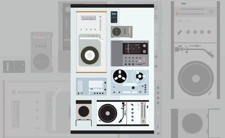 Póster con los iconos del diseño de Dieter Rams
