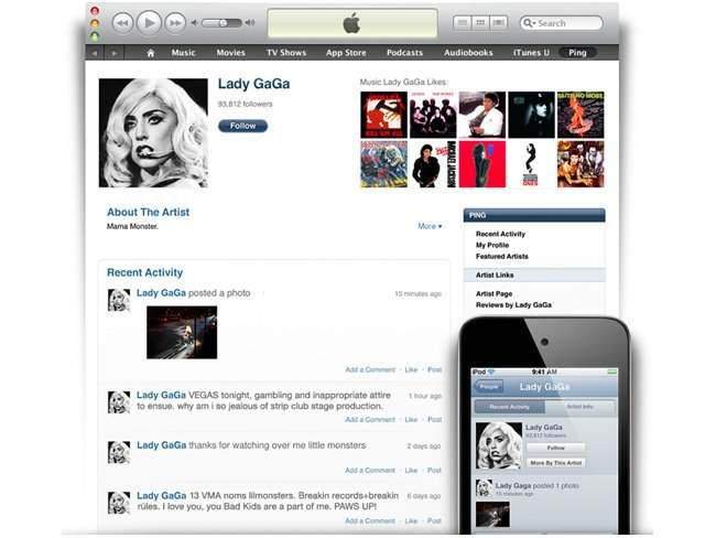 apple itunes ping
