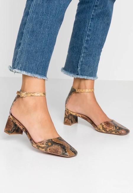 Zapatos Granny Tacon Ancho