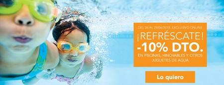 Descuentos de hasta el 10% en piscinas hinchables y otros juguetes de agua en Toys r' us sólo hasta mañana