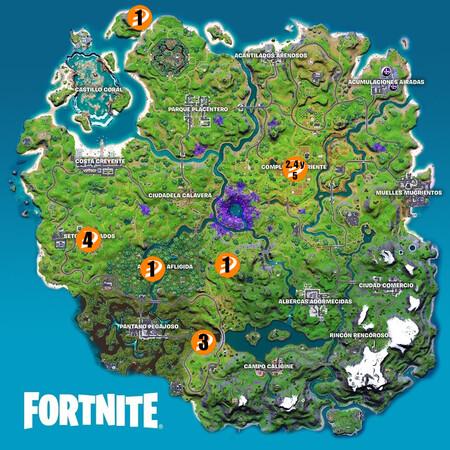 Mapa Desafios Epicos Semana 14 Fortnite