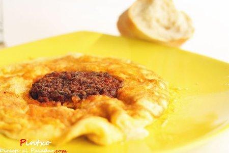 Tortilla de sobrasada y queso de Mahón. Receta