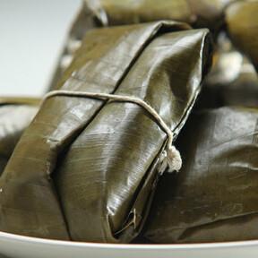 Tamales de calabaza con camarón, estilo Baja. Receta sencilla de la cocina mexicana