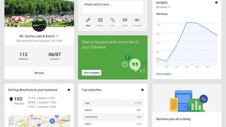Panel de control Google +