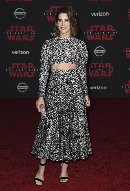 star wars ultimo jedi alfombra roja look Cobie Smulders