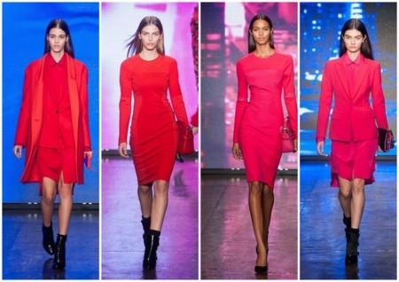 DKNY tendencias invierno 2013 2014 rojo