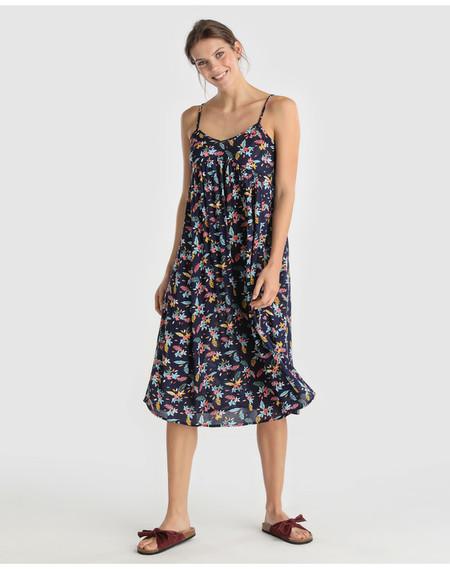 Vestido Midi Estampado Floral Unit Hipercor