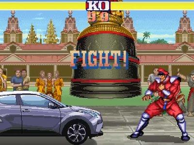 Toyota aprovecha Street Fighter II para promocionar su nuevo auto