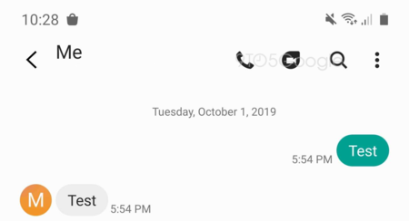 Samsung Messages Google Duo Mockup