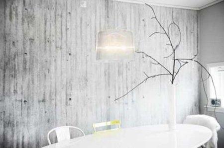 Papel pintado que imita muros de hormigón