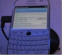 Se filtró una captura del BlackBerry OS 7.1 donde se muestra un modo de ahorro de batería