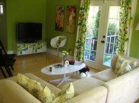 Una buena idea: combina textiles con muebles