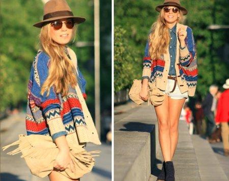 Cardigan navajo Moda en la calle