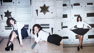 La blogger que quiso fotografiarse en un mausoleo judío