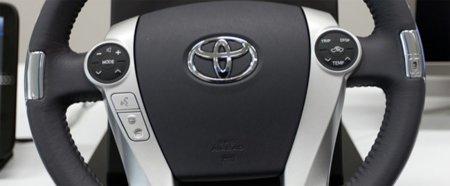 Sensores ritmo cardíaco en un volante de Toyota