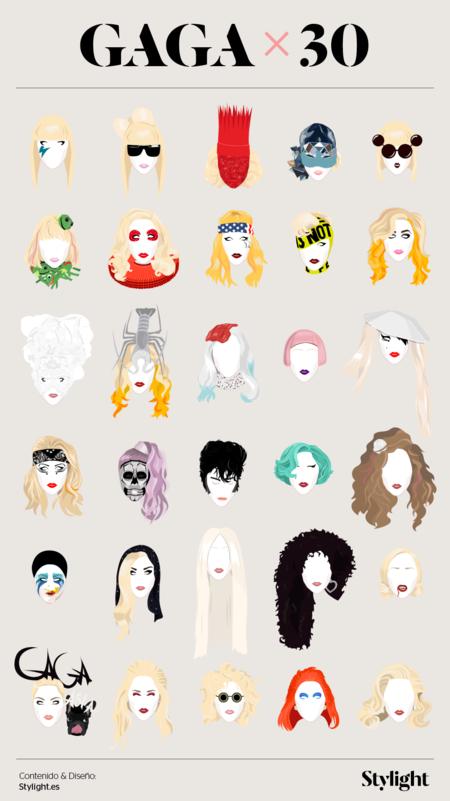 Stylight Lady Gaga 30 Cumpleanos Infografia