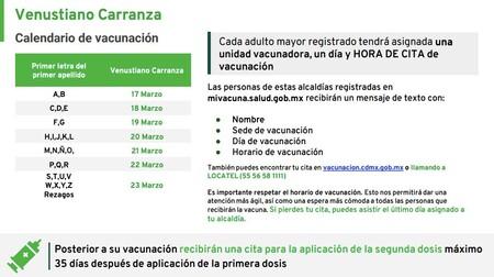 Cuarta Etapa Vacunacion Contra Covid 19 Cdmx Fecha Calendario Venustiano Carranza