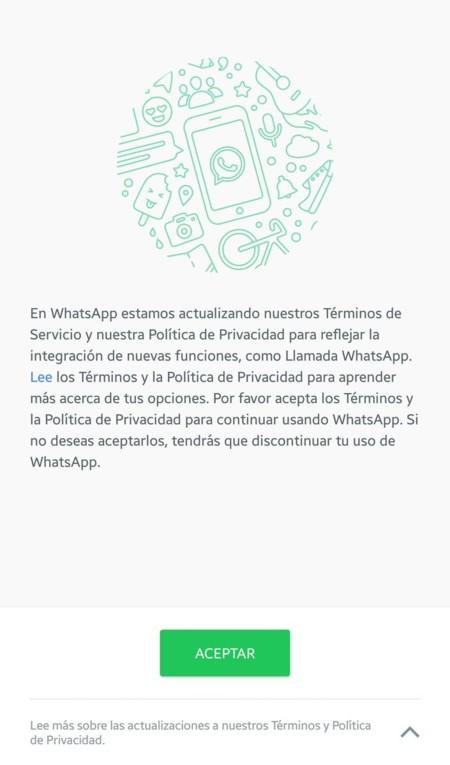 Whatsapp Cambio Politicas Uso