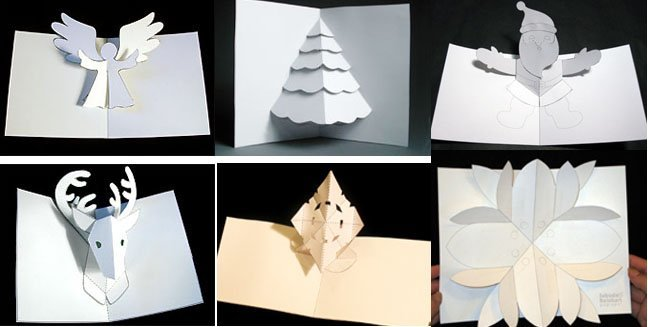 Tarjetas para navidad 3 estilos