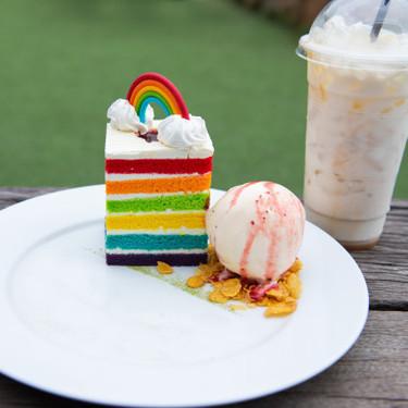 Pastel arcoíris. Receta para una linda celebración