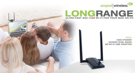 Amped Wireless ACA1, adaptador WiFi 802.11ac de alta potencia