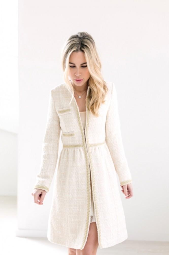 Abrigo corto de tweed