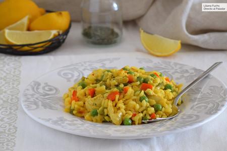 Arroz con pollo y verdura