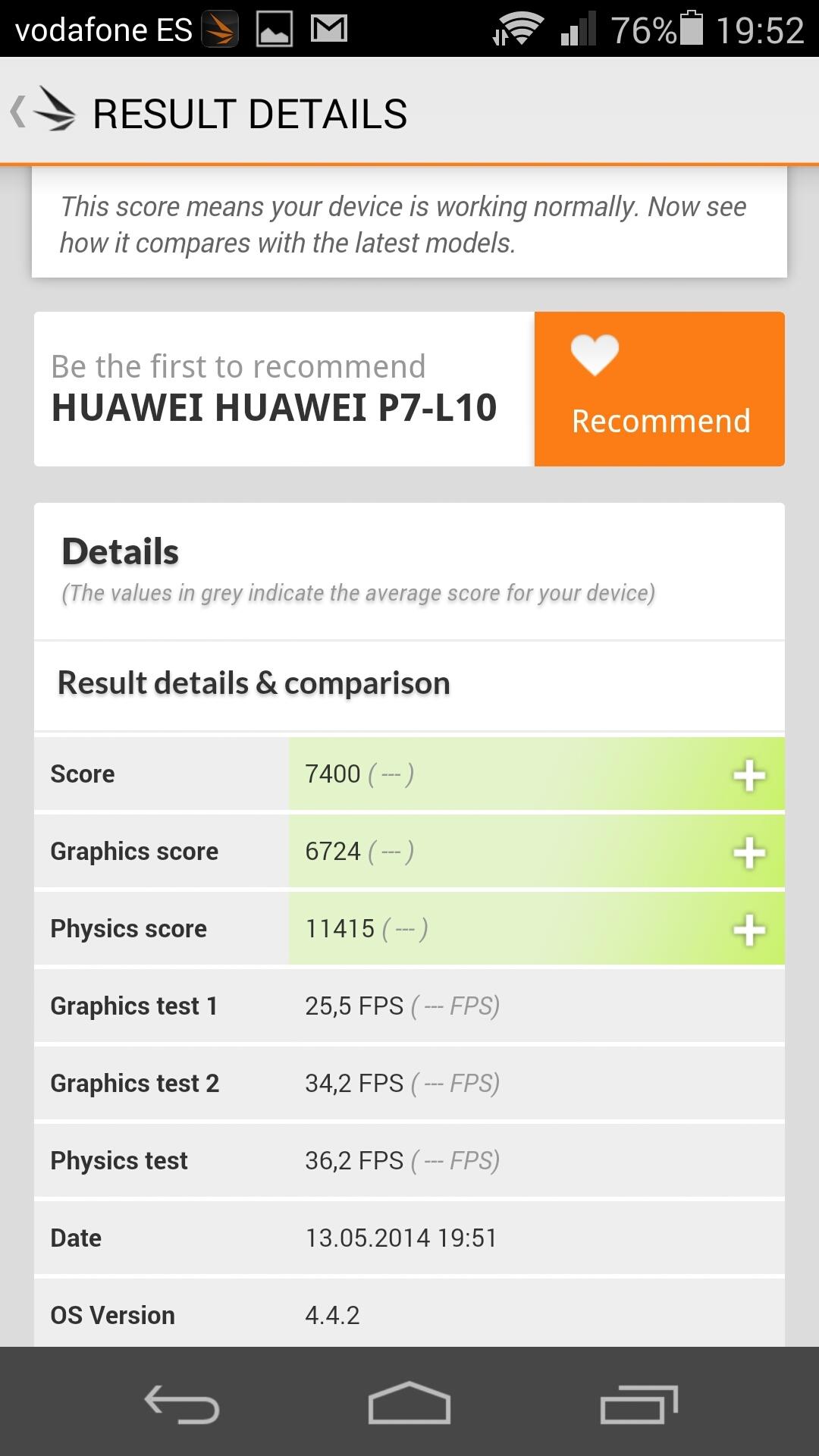 Foto de Benchmarks Huawei Ascend P7 (10/14)