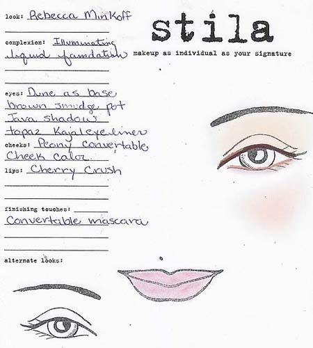Stila en el backstage de Rebecca Minkoff para la Semana de la Moda de Nueva York
