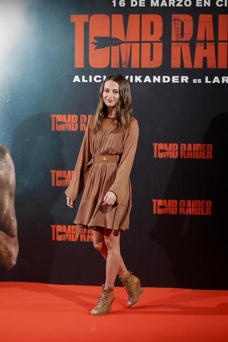 Alicia Vikander Photocall De Tomb Raider En Madrid 2