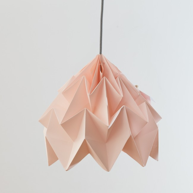 Luzada Rosa Lampara Diseno Origami Nordico Arquitectura Interiorismo