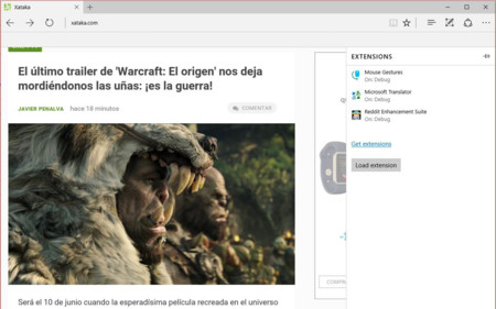 Las extensiones llegan a Microsoft Edge, y nosotros ya las hemos probado