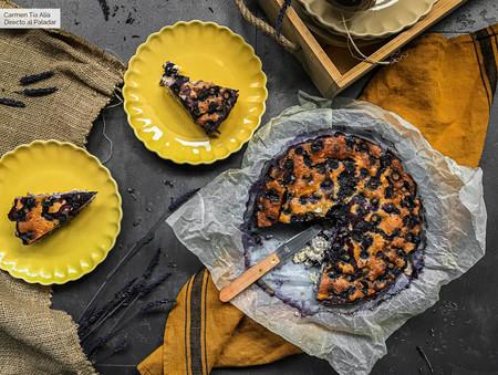 tarta de queso saludable con arandanos