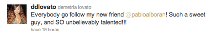 Tweet Demi Lovato