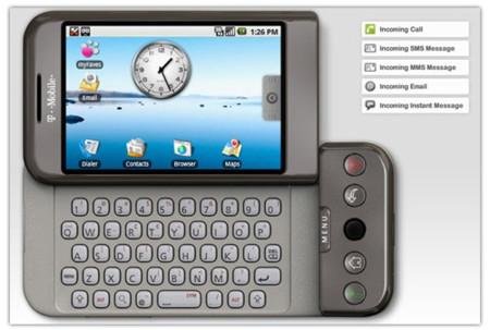 T-Mobile G1, vista en 360 grados, guías y emulador