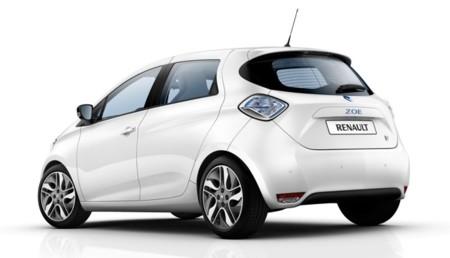 Renault ZOE blanco vista trasera