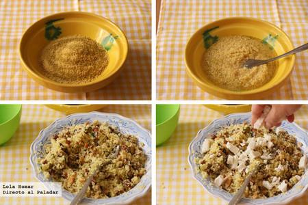 Tabule con frutos secos y feta