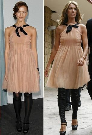 Vestido de Chanel: ¿Celine Dion o Jessica Alba?