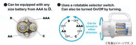 baterías universales para linterna