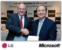 LG y Microsoft colaborarán en telefonía, especialmente en el desarrollo de Windows Mobile